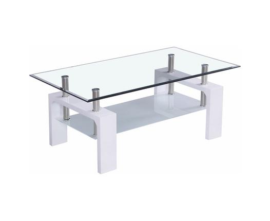 מעולה  שולחן סלון זכוכית לבן | הום סנטר HP-78